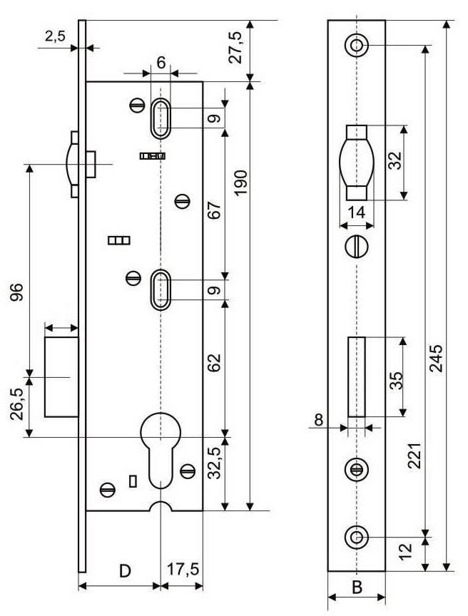 Схема замка дверей пвх